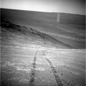 A dust devil on Mars
